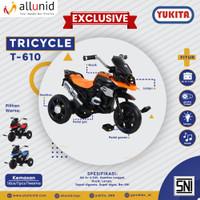 Sepeda Anak Roda Tiga DUA FUNGSI - bisa gowes bisa elektrik T-610