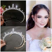 mahkota zircon murah tiara crown memanjang sampe telinga MZ03