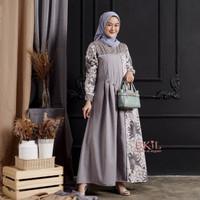 Gamis Wanita Batik Terbaru Baju Dress Gaun Pesta Kondangan Syari Murah