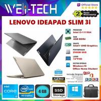"LENOVO IDEAPAD SLIM 3 i3-1115G4 4GB 256GB SSD 14"" WIN10 OHS"