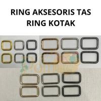AKSESORIS TAS RING KOTAK TEBAL Rose Gold Gold Black Nickel Silver