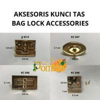 AKSESORIS TAS / Bag Lock / Pengunci Tas / Kunci Tas Putar ROSE GOLD