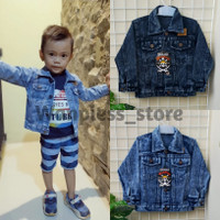 Jaket Jeans Anak Umur 2-7 Tahun | KAIN JEANS PREMIUM
