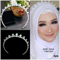 mahkota zircon murah tiara crown memanjang sampe telinga MZ05