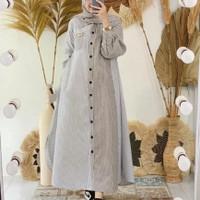 Baju Gamis Wanita Terbaru Aisyah Dress Syari Muslim Termurah