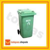 [GOJEK/GRAB] Tempat Sampah Roda Dorong 180 Liter Besar Green Leaf 2318