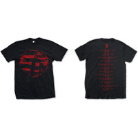 Kaos Band CURE Back Print Gothic Rock Rock Off Trade Eastern Red Logo - M