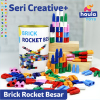Mainan Edukasi Anak Brick Rocket Besar