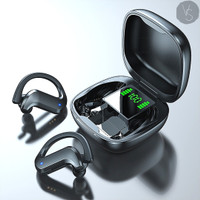Voulao TWS 5thGen- Wireless Bluetooth Gaming Headset w/ Charging Case - Hitam