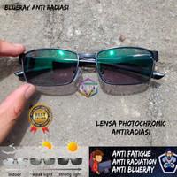 Kacamata anti radiasi photocromic / blue ray / bluechromic gamers