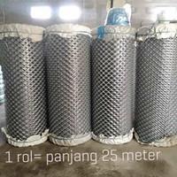 Kawat pagar harmonika galvanis 2 mm/5 cm murah anti karat ram wajik