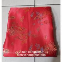 kain congsam merah / bahan cheongsam special merah