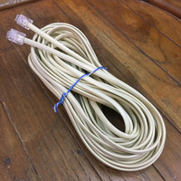 Kabel Line Telepon + Pin RJ11 / Kabel Telepon Rumah - 40 Meter