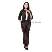 Batik Wanita Setelan Celana Kulot Dan Outer Bolero - No : 1