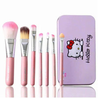 BRUSH SET KUAS MAC HELLO KITTY PINK ISI 7 KUAS MAKE UP KOSMETIK MAKEUP