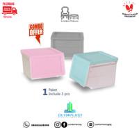 Paket 3 pcs Olymplast Storage Solution Box OSS / Tempat Penyimpanan