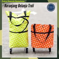 TO-013 Tas Belanja Roda Troli Troly / Keranjang Shopping Bag Lipat