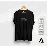 Kaos SOK ATHEIS PADAHAL CUMA MALES SHOLAT ANTIHERO X DJA CLOTH