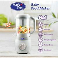 baby safe food maker processor 6in1 blender steamer