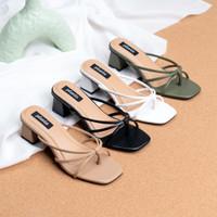 Pluvia - AMIRA Sepatu Chunky Heels Tali Wanita