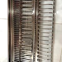 Rak piring gelas stainless kitchen set 60 vitco / rak gantung 60cm