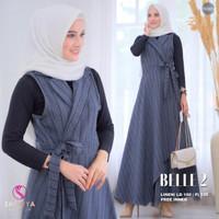 Baju Terusan Wanita Muslim Longdress Belle Set 2 Maxy Shofiya Sfs