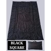 BALMUT (Bantal Selimut) Motif Black Square (Kotak hitam)