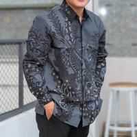 kemeja batik pria lengan panjang batik tulis berlapis furing ADB056