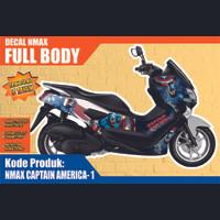 STIKER FULL BODY NMAX LAMA DAN NEW N MAX STICKER DECAL CAPTAIN AMERICA
