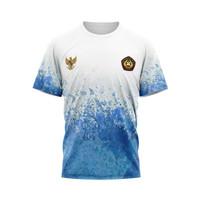 Baju Kaos Tshirt Jersey Pria Olahraga Beladiri Indonesia Pencak Silat - Art 1 Pendek, S