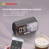 Starco Speaker Bluetooth 5.0 Jam Alarm Stand Hp Digital Display LED