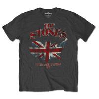 Baju Kaos Musik Band Import ROLLING STONES Original Grey Union Jack Us - M