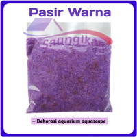 Pasir Silika UNGU LILAC PURPLE Import Aquarium Aquascape 500 Gram