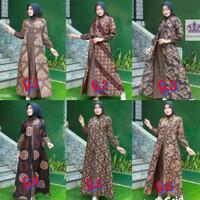 Baju Batik Gamis Cardi Wanita Muslim Jumputan Cinta Maxi