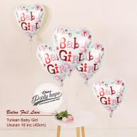 balon foil hati baby girl / balon baby girl / balon baby shower girl