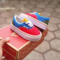 Sepatu Vans Era Mario Merah Biru Anak laki-laki dan Perempuan