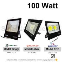 lampu led sorot / tembak / floodlight / outdoor 100W reflector MINI