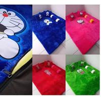 Karpet Bulu Karakter Doraemon Uk 180x120 cm Tebal 3,5 cm Bahan Halus