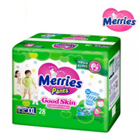 Popok Bayi Merries Pants Good Skin Merries XXL28 Merries XXL 28