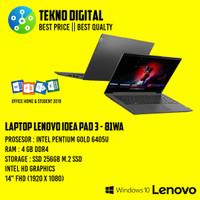 Laptop Lenovo Idea Pad 3 81WA Intel Pentium Gold 6405U/RAM 4GB/SSD 256