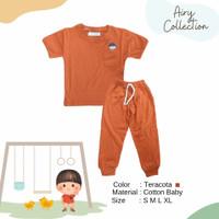 Airy - Anaku Kids Baju Anak Cotton Baby - Teracota - Bata, S