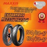 BAN LUAR MAXXIS PAKET 100/80-17 M6233W DAN 130/70-17 M6234W TUBELESS