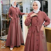 Baju Gamis Syari Muslim Wanita Terbaru Kaila Dress Termurah