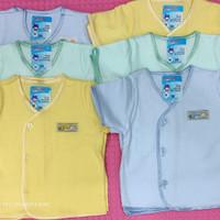 Baju bayi pendek polos warna boboho/SNI/kaos katun/