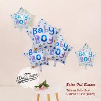 balon foil bintang baby boy / balon baby boy / balon baby shower boy