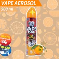 VAPE PLUS Aerosol obat semprot anti nyamuk 500ml ORANGE