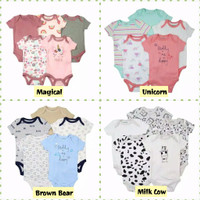 Jumper Jumpsuit 5 in 1 Bayi Perempuan Laki Laki / Jumpsuit Newborn - Star Bear, 6-9 Bulan