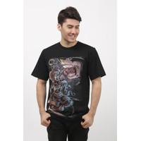 baju pria asli distro - kaos hitam bergambar cowo DIK.CRS size M-L