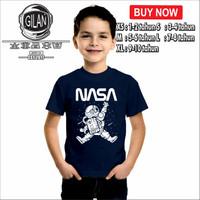 Kaos Baju Distro Anak NASA ASTRONOT Kaos Distro Anak - Gilan - XS, Hitam