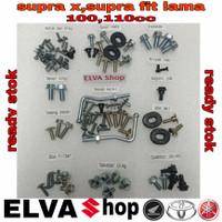 baut lengkap full set body honda supra x 100cc tahun 2006